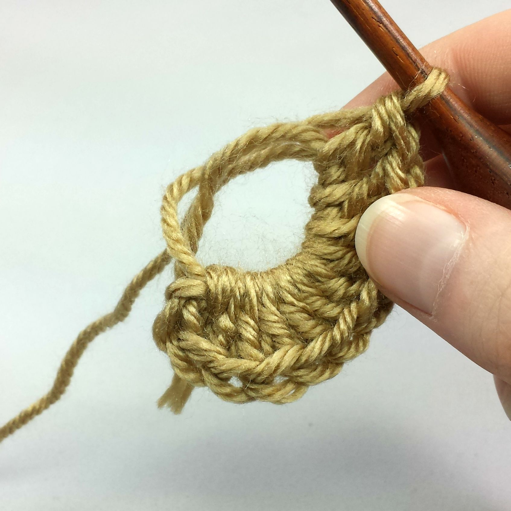 Starting Hat With A Magic Ring And Keeping Your Double Crochet Seam