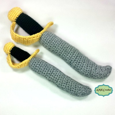 Crochet Sword Patter by AMKCrochet